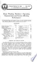 Home washing machines