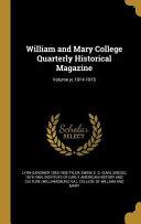 William Mary Col Quarterly H