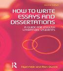 How to Write Essays and Dissertations [Pdf/ePub] eBook