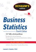 Schaum s Outline of Business Statistics  Fourth Edition