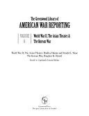 The Greenwood Library Of American War Reporting World War Ii The Asian Theater The Korean War