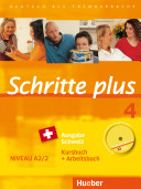 Schritte plus 4 Ausgabe Schweiz. Kursbuch + Arbeitsbuch mit Audio-CD