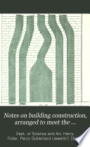 Notes on Building Construction: Second Stage or advanced course Pdf/ePub eBook