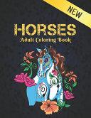 Horses Adult New Coloring Book