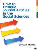 How to Critique Journal Articles in the Social Sciences [Pdf/ePub] eBook