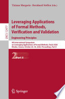 Leveraging Applications of Formal Methods, Verification and Validation: Engineering Principles