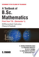 A Textbook of B.Sc. Mathematics (Differential Calculus) (For 1st Year, 1st Semester of Telangana Universities)