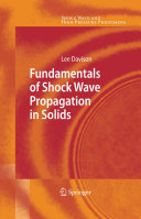 Fundamentals of Shock Wave Propagation in Solids