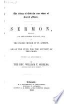 The Glory of God the True Object of Sacred Music. A Sermon [on Chron. Xxix. 1, 5], Etc