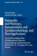 Nanooptics and Photonics, Nanochemistry and Nanobiotechnology, and Their Applications