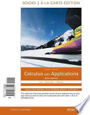 Calculus with Applications Brief Version Books a la Carte Edition