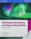 Books - New Developing Summary And Note-Taking Skills Without Answers | ISBN 9781108440691