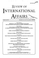 Review of International Affairs