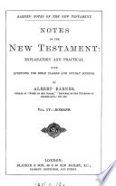 Notes  explanatory and practical  on the New Testament  ed  by R  Frew Book
