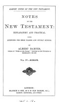Notes  explanatory and practical  on the New Testament  ed  by R  Frew