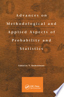 Advances on Methodological and Applied Aspects of Probability and Statistics