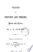 Phases of thought and feeling  poems and lyrics