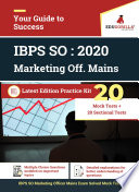 """IBPS SO Marketing Officer Complete Study Material Kit (20 Mains + 20 Sectional)"" by Rohit Manglik"