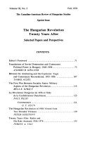 The Canadian American Review of Hungarian Studies