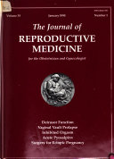 Journal of Reproductive Medicine Book