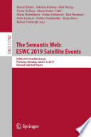 The Semantic Web: ESWC 2019 Satellite Events