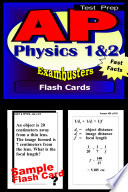 AP Physics Test Prep 1 2 Review  Exambusters Flash Cards