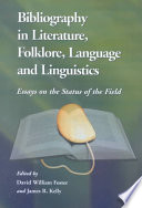 Bibliography In Literature Folklore Language And Linguistics
