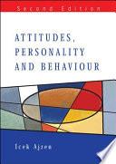 Attitudes  Personality  and Behavior Book