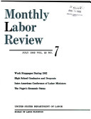 Monthly Labor Review July 1963 Vol  86 No  7