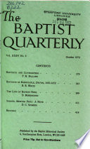 The Baptist Quarterly  : Incorporating the Transactions of the Baptist Historical Society , Ausgaben 1-8