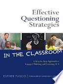 Effective Questioning Strategies In The Classroom Book PDF