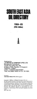 South East Asia Oil Directory  Singapore Book