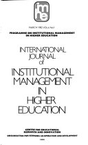 International Journal Of Institutional Management In Higher Education