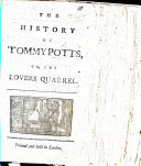 The History of Tommy Potts  Or  the Lovers Quarrel