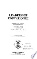 Leadership Education III