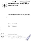 A Selected Bibliography on Fish Oils