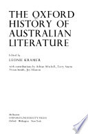 The Oxford History of Australian Literature