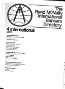 Rand McNally International Bankers Directory