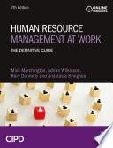Human Resource Management at Work Book
