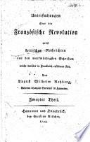 Untersuchungen über die Französische Revolution