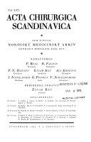 Acta Chirurgica Scandinavica