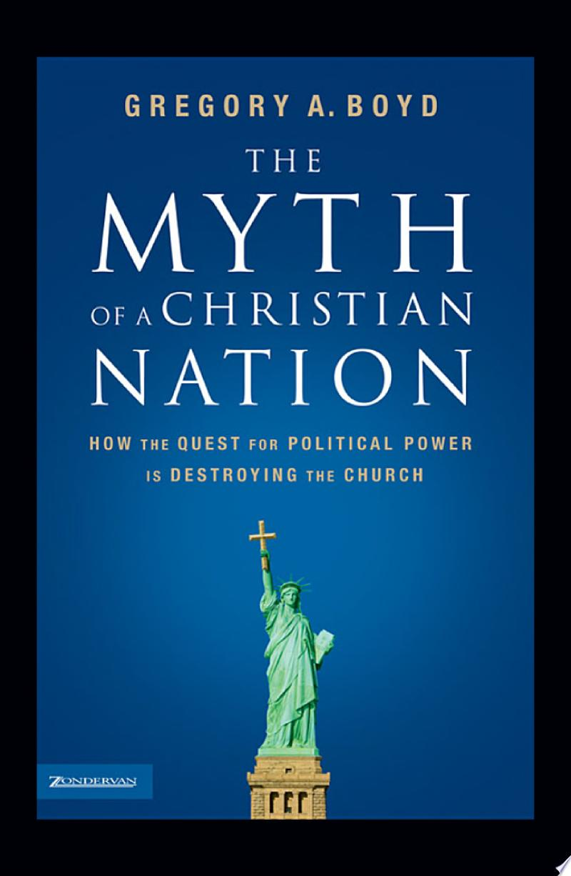 The Myth of a Christian Nation banner backdrop