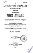 La littérature française contemporaine...