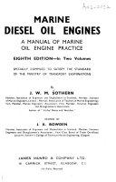 Marine Diesel Oil Engines