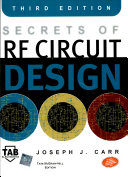 Secrets Of Rf Circuit Design  Third Edition Book