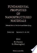Fundamental Properties of Nanostructured Materials Book