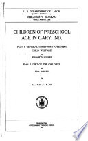 Children of Preschool Age in Gary  Ind Book