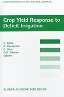 Pdf Crop Yield Response to Deficit Irrigation
