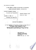 California. Court of Appeal (2nd Appellate District). Records and Briefs
