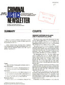 Criminal Justice Newsletter